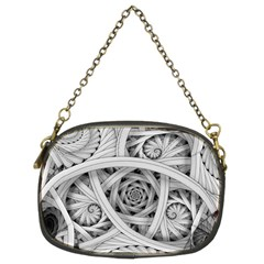 Fractal Wallpaper Black N White Chaos Chain Purses (two Sides)  by Amaryn4rt