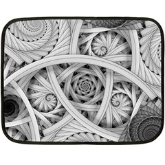 Fractal Wallpaper Black N White Chaos Fleece Blanket (mini) by Amaryn4rt