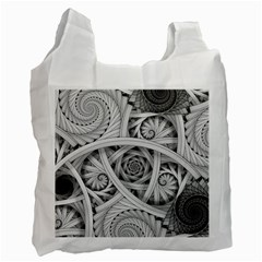 Fractal Wallpaper Black N White Chaos Recycle Bag (one Side) by Amaryn4rt