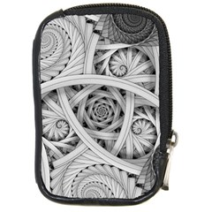 Fractal Wallpaper Black N White Chaos Compact Camera Cases by Amaryn4rt