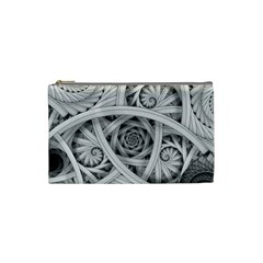 Fractal Wallpaper Black N White Chaos Cosmetic Bag (small)  by Amaryn4rt