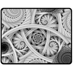 Fractal Wallpaper Black N White Chaos Fleece Blanket (medium)  by Amaryn4rt