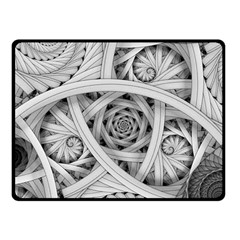 Fractal Wallpaper Black N White Chaos Fleece Blanket (small) by Amaryn4rt