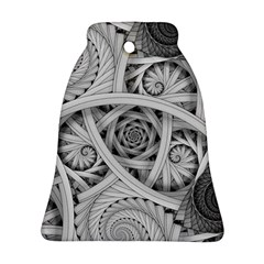 Fractal Wallpaper Black N White Chaos Bell Ornament (two Sides) by Amaryn4rt