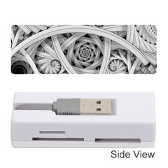 Fractal Wallpaper Black N White Chaos Memory Card Reader (stick)  by Amaryn4rt
