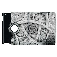 Fractal Wallpaper Black N White Chaos Apple Ipad 2 Flip 360 Case by Amaryn4rt