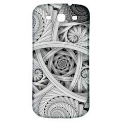 Fractal Wallpaper Black N White Chaos Samsung Galaxy S3 S Iii Classic Hardshell Back Case by Amaryn4rt