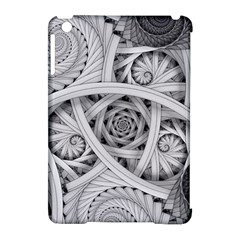 Fractal Wallpaper Black N White Chaos Apple Ipad Mini Hardshell Case (compatible With Smart Cover) by Amaryn4rt