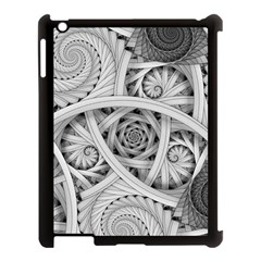 Fractal Wallpaper Black N White Chaos Apple Ipad 3/4 Case (black) by Amaryn4rt
