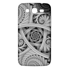 Fractal Wallpaper Black N White Chaos Samsung Galaxy Mega 5 8 I9152 Hardshell Case  by Amaryn4rt