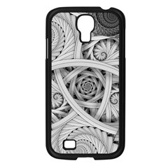 Fractal Wallpaper Black N White Chaos Samsung Galaxy S4 I9500/ I9505 Case (black) by Amaryn4rt