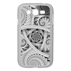 Fractal Wallpaper Black N White Chaos Samsung Galaxy Grand Duos I9082 Case (white) by Amaryn4rt
