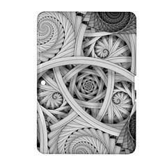 Fractal Wallpaper Black N White Chaos Samsung Galaxy Tab 2 (10 1 ) P5100 Hardshell Case  by Amaryn4rt