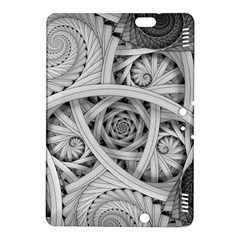 Fractal Wallpaper Black N White Chaos Kindle Fire Hdx 8 9  Hardshell Case by Amaryn4rt