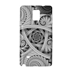 Fractal Wallpaper Black N White Chaos Samsung Galaxy Note 4 Hardshell Case by Amaryn4rt