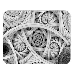 Fractal Wallpaper Black N White Chaos Double Sided Flano Blanket (large)  by Amaryn4rt