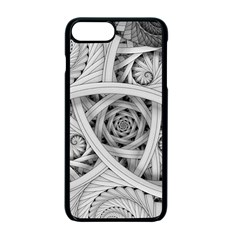 Fractal Wallpaper Black N White Chaos Apple iPhone 7 Plus Seamless Case (Black)