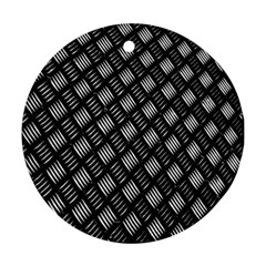 Abstract Of Metal Plate With Lines Ornament (round) by Amaryn4rt
