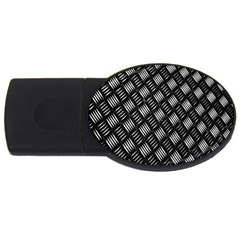 Abstract Of Metal Plate With Lines Usb Flash Drive Oval (2 Gb) by Amaryn4rt