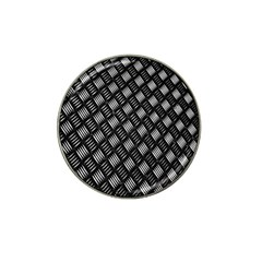 Abstract Of Metal Plate With Lines Hat Clip Ball Marker (10 Pack) by Amaryn4rt