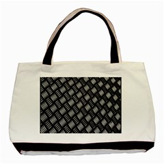 Abstract Of Metal Plate With Lines Basic Tote Bag (two Sides) by Amaryn4rt