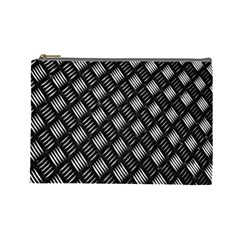 Abstract Of Metal Plate With Lines Cosmetic Bag (large)  by Amaryn4rt