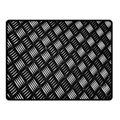 Abstract Of Metal Plate With Lines Fleece Blanket (small) by Amaryn4rt