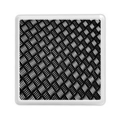 Abstract Of Metal Plate With Lines Memory Card Reader (square)  by Amaryn4rt