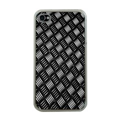 Abstract Of Metal Plate With Lines Apple Iphone 4 Case (clear) by Amaryn4rt