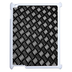 Abstract Of Metal Plate With Lines Apple Ipad 2 Case (white) by Amaryn4rt