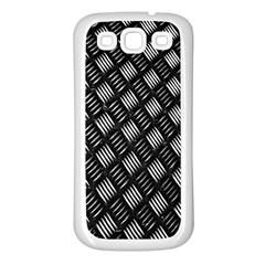 Abstract Of Metal Plate With Lines Samsung Galaxy S3 Back Case (white) by Amaryn4rt