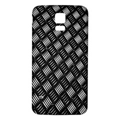 Abstract Of Metal Plate With Lines Samsung Galaxy S5 Back Case (white) by Amaryn4rt