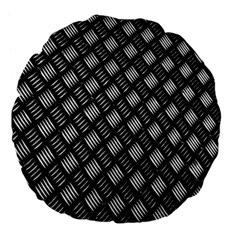 Abstract Of Metal Plate With Lines Large 18  Premium Flano Round Cushions by Amaryn4rt