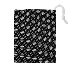 Abstract Of Metal Plate With Lines Drawstring Pouches (extra Large) by Amaryn4rt