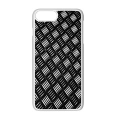 Abstract Of Metal Plate With Lines Apple Iphone 7 Plus White Seamless Case by Amaryn4rt