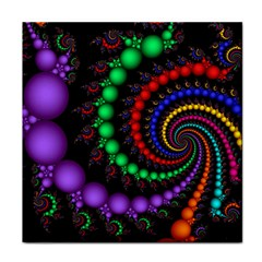 Fractal Background With High Quality Spiral Of Balls On Black Tile Coasters by Amaryn4rt
