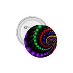 Fractal Background With High Quality Spiral Of Balls On Black 1 75  Buttons by Amaryn4rt