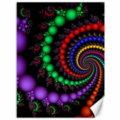 Fractal Background With High Quality Spiral Of Balls On Black Canvas 36  X 48   by Amaryn4rt