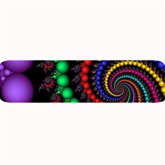 Fractal Background With High Quality Spiral Of Balls On Black Large Bar Mats by Amaryn4rt
