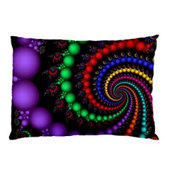 Fractal Background With High Quality Spiral Of Balls On Black Pillow Case by Amaryn4rt