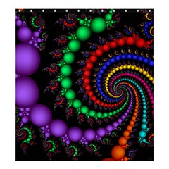 Fractal Background With High Quality Spiral Of Balls On Black Shower Curtain 66  X 72  (large)  by Amaryn4rt