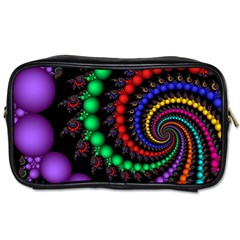 Fractal Background With High Quality Spiral Of Balls On Black Toiletries Bags 2 Side by Amaryn4rt