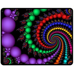 Fractal Background With High Quality Spiral Of Balls On Black Fleece Blanket (medium)  by Amaryn4rt