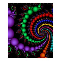 Fractal Background With High Quality Spiral Of Balls On Black Shower Curtain 60  X 72  (medium)  by Amaryn4rt