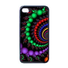 Fractal Background With High Quality Spiral Of Balls On Black Apple Iphone 4 Case (black) by Amaryn4rt