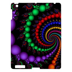 Fractal Background With High Quality Spiral Of Balls On Black Apple Ipad 3/4 Hardshell Case by Amaryn4rt
