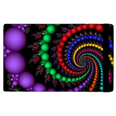 Fractal Background With High Quality Spiral Of Balls On Black Apple Ipad 2 Flip Case by Amaryn4rt