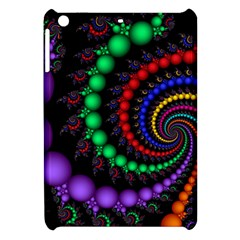 Fractal Background With High Quality Spiral Of Balls On Black Apple Ipad Mini Hardshell Case by Amaryn4rt