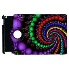 Fractal Background With High Quality Spiral Of Balls On Black Apple Ipad 3/4 Flip 360 Case by Amaryn4rt
