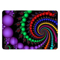 Fractal Background With High Quality Spiral Of Balls On Black Samsung Galaxy Tab 8 9  P7300 Flip Case by Amaryn4rt